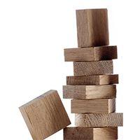 Morceaux de bois de chêne pour l'oenologie Oenoblock